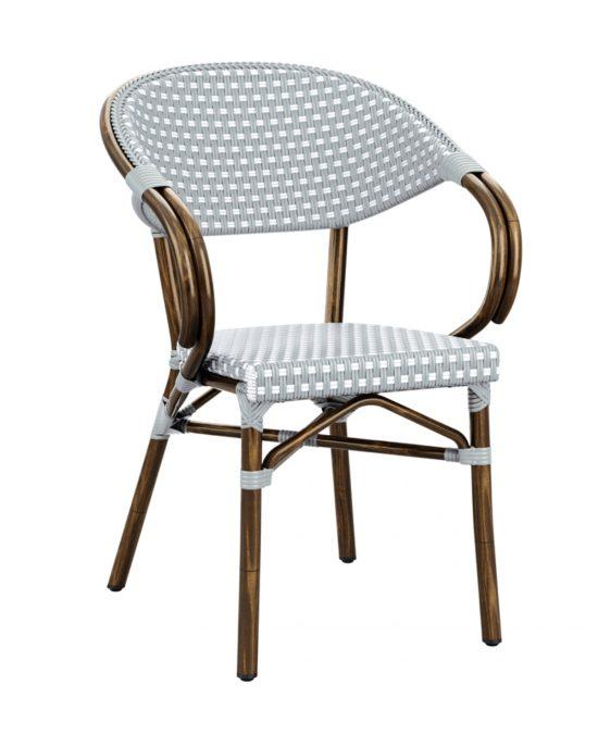 Acton Armchair - Black & White