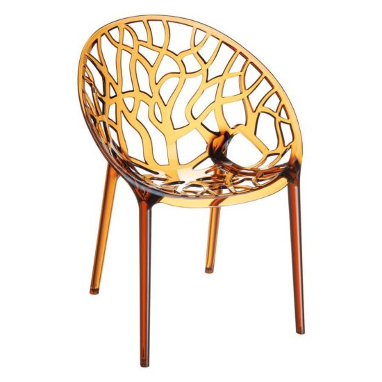 Crystal Chair - Amber Transparent