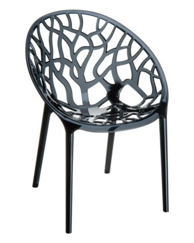 Crystal Chair - Smoke Grey Transparent