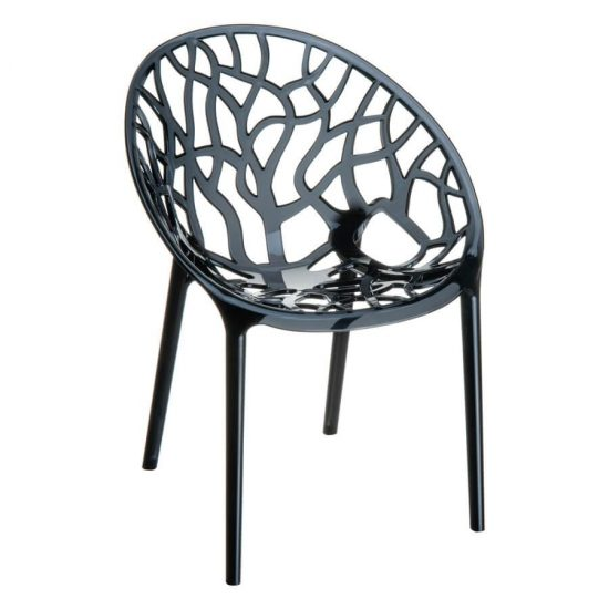 Crystal Chair - Black Transparent