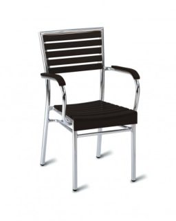 Seville Brown Side Chair (no wood -stacking)