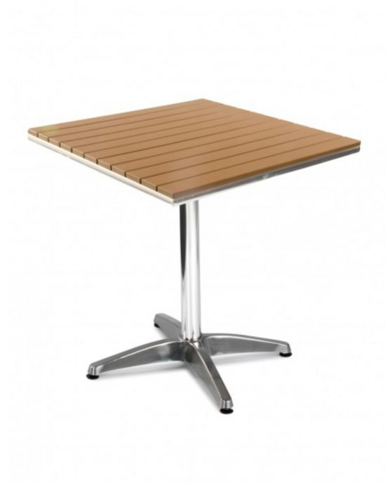 Seville Square Table (no wood - brown)