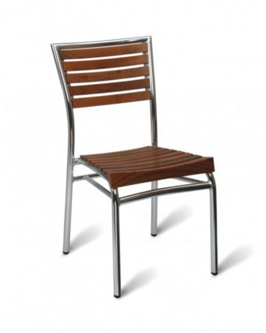 Vienna Side Chair - Teak (stacking)
