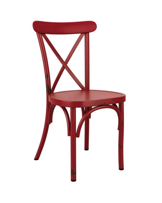 Cross Back Vintage Chair  - Light Blue
