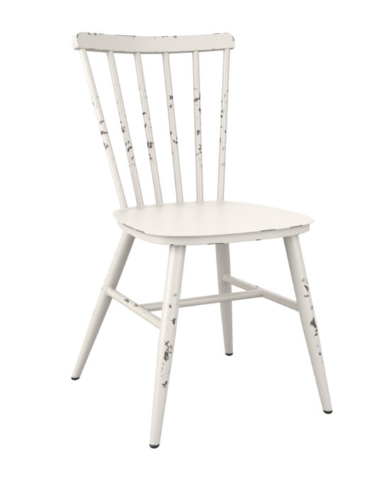 Spindle Retro Side Chair - Vintage White